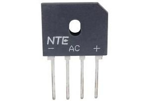 Wave Silicone (NTE Electronics NTE5301 Silicon Bridge Rectifier, Full Wave, Single Phase, 8 Amps Average Rectified Output Current, 600V Peak Repetitive Reverse Voltage)
