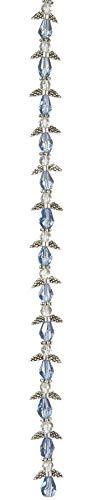 (Angel Wings BG3007 Strand Silver Light Sapphire 10mm 7in)