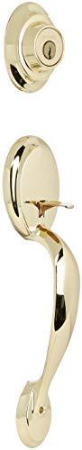 Dakota Double Cylinder Entrance Handleset Finish: Polished Brass