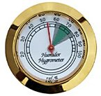 Prestige Import Group HYB134 Hygrometer with Gold Frame and Glass Face, 1-3/4-Inch