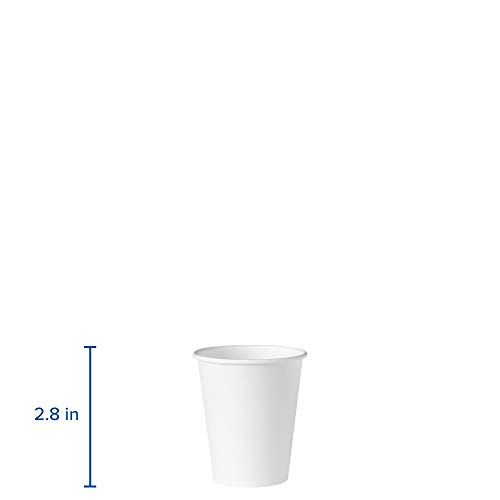 Solo 404-2050 4 oz White Treated Paper Cup (Case of 5000) by Solo Foodservice (Image #1)
