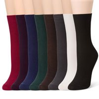 Sheec Basics - Fine Ribbed Cotton Socks (8 Pairs) SetB by Sheec (Image #2)