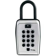 (Master Lock Portable Key Safe - Push Button Lock - Weather Resistant, Scratch Resistant - for Door - Overall Size 3.1