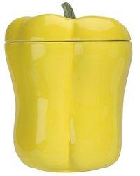 Home Gourmet Ceramic Yellow Bell Pepper Cookie Jar ()