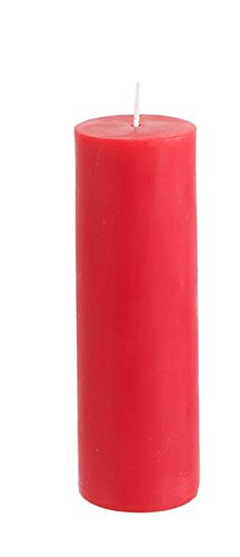 Mega Candles Unscented Red Round Pillar Candle | Hand Poured Premium Wax Candles 2