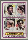 Ottis Anderson; Pat Tilley; Ken Stone; Bob Pollard; St. Louis Cardinals Team St. Louis Cardinals Team (Football Card) 1980 Topps - Team Checklist Poster Cards #359 - Louis Cardinals Stone