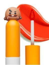 VT BT21 / VT cosmetics x BTS / GLOW LIP LACQUER, lip stain, lip tint, long lasting lip color (02 POP ORANGE)