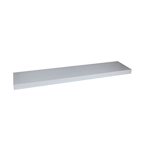LOYOKI Floating Shelf, Wall Mounted Storage Shelves, Retro Display Shelf Bookcase White 35 - White Standard Cd Gloss