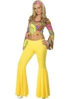 Smiffys Sexy Retro Disco Hippie Adult 60s 70s Halloween Costume Medium -