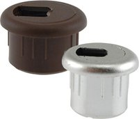 """Hardware Concepts, 2-Piece Wire Grommet, Color: White, Material: Plastic & Rubber, Dimensions: Hole Diameter – 1"""" Width – 1.25"""" Height - .625"""" Slot Dimension .5"""" Grommet Opening - .875"""", Qty: 1"""