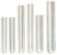 Globe Scientific 110410 Polystyrene Test Tube, 5mL Capacity, 12mm Dia, 75mm Height (Bag of ()