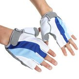 Bike Silicone Fingerless Gloves Cycling - Bicycle Bike Silicone Comfortable Finger Fingerless Gloves Blue - 1PCs