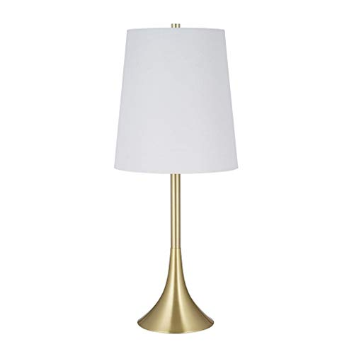 Rivet Contemporary Table Desk Lamp with LED Light Bulb, 22.5 H, Satin Gold Finish