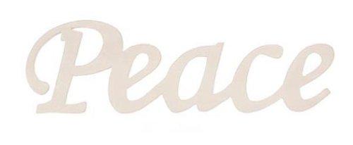 Blessed Shadow Box Frame - Darice 9110-22 Wood Script Word, Peace