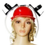 Halloween Costume Thirst Aid Beer Helmet Beer Hat (Red)