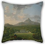 Uloveme The Oil Painting George Barret - Powerscourt, County Wicklow, Ireland Pillow Cases Of ,20 X 20 Inches / 50 By 50 Cm Decoration,gift For Seat,office,teens Girls,her,christmas,bedroom (twice ()