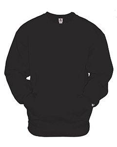 - 1252 Badger Adult Athletic Fleece Pocket Crew - Black - XXXX-Large