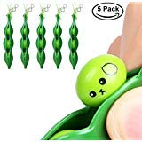 Ybetter [Pack of 5] Funny Facial Expressions Squeeze Bean Fidget Toy, Perfect for Children and Adults Release Stress and Anxiety, OCD, ADD, ADHD, Improve Focus, Skin Picking, Nail Biting