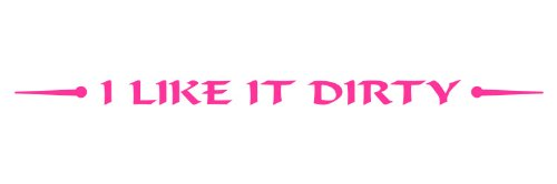 Windshield Decal For Jeep, Wrangler For Flat Glass- I Like It Dirty, For Off Road 4x4 Mud Truck - In PINK - 2x42 - Glassis