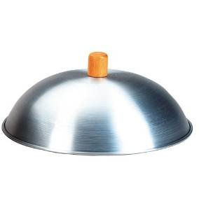 M.V. Trading TWC14 Aluminum Wok Lid with Wood Knob, 12½-Inch by M.V. Trading (Image #2)