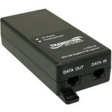 Transition Networks 1 Port 10/100/1000 PoE+-Injector with NA PS (L1000I-AT-NA)