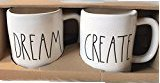 Rae Dunn DREAM and CREATE Mug Boxed Set of Two, Large Letters