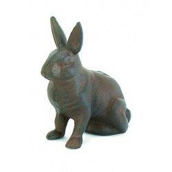 Cast Iron Rabbit Bunny (Outdoor Iron Garden Statues)