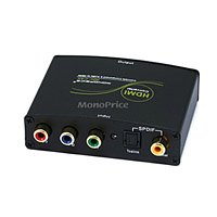 Coaxial Digital Component Video - Monoprice Component (YPbPr) & S/PDIF Digital Coax/Optical Toslink Audio to HDMI Converter