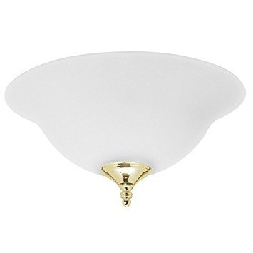 Hunter 28573 Dual Use Light Kit - Frosted with Antique Brass, Hunter Bright Brass Finish finials