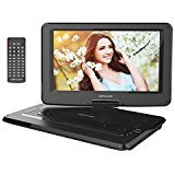 "Electronics : DBPOWER 14"" Portable DVD Player with Swivel Screen, 3 Hours Rechargeable Battery, Supports SD Card and USB, with 1.8M Car Charger and 1.8M Power Adaptor (Black)"