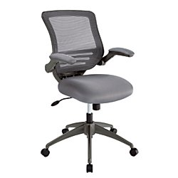 Realspace(R) Calusa Mesh Mid-Back Chair, Silver by Realspace