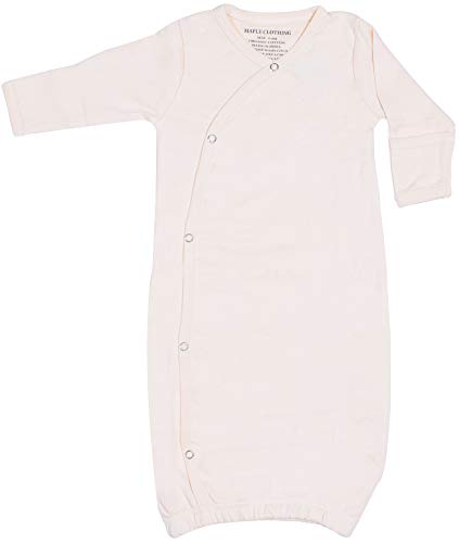 - Maple Clothing Organic Cotton Baby Clothes Sleepwear Kimono Gown GOTS Certified (Natural, 0-6m)