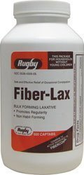 Fiber-Lax Tablets 500 Mg, 500 ea by RUGBY ()
