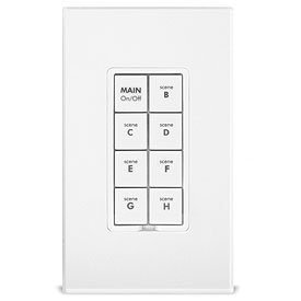 INSTEON 2334-222 Keypad Dimmer Switch (Dual-Band), 8-Button, White