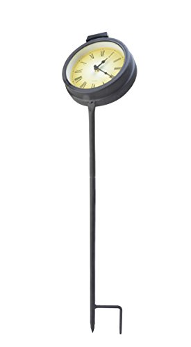 Moonrays 95002 Solar Powered White LED Clock Stake
