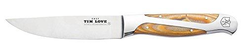 Tim Love 12 Piece Robust Steak Knife Set Mesquite Handle by Hammer Stahl