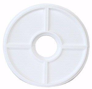 Westinghouse 7703400 Split Design Molded Plastic Ceiling Medallion, White
