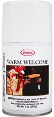 Claire C-146 7 Oz. Warm Welcome Metered Air Freshener Aerosol Can (Case of 12) by Claire