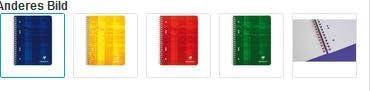Collegeblock mikroperforiert mit Ringbuchlochung Clairefontaine, DIN A5+ 14,8x21cm, 80 Blatt, 90g, kariert 8572 CC