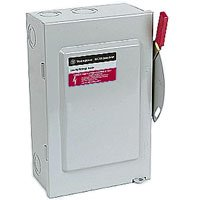 Eaton DG222NGB 3 Wire 2 Pole Fusible B Series General-Duty Safety Switch 240 Volt AC 60 Amp NEMA 1 by Eaton