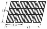 - Music City Metals 63012 Gloss Cast Iron Cooking Grid Replacement for Select Kenmore and Sams Gas Grill Models, Set of 2