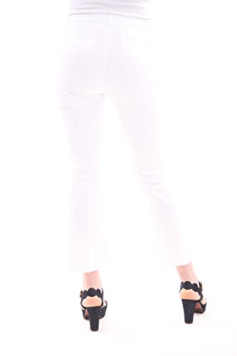 Seventy Model Capri Femme Trousers In White Cotton rwTFrP