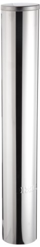 Dixie DS1 9 oz Stainless Steel Wall Mount Pull Type Cold Cup Dispenser (12 Each)](Styrofoam Cup Dispenser)