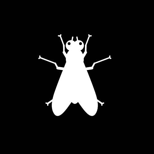 SHMAZ 13.5 Cm * 14.5 Cm Mooie Insect Bug Shadow Delicate Decal Auto Sticker Zwart/Zilver