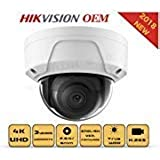 4K PoE Security IP Camera-Compatible with Hikvision DS-2CD2185FWD-I UltraHD 8MP Dome Onvif IR Night Vision Weatherproof Wide