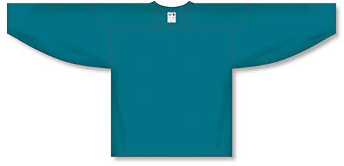 (Customization Depot Teal Practice Plain Blank Hockey Jerseys)