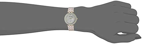 Anne Klein Women's AK/3310TNGB Diamond-Accented Gold-Tone and Tan Ceramic Bracelet Watch