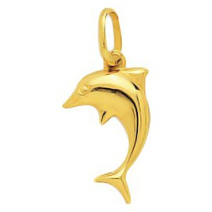 So Chic Bijoux © Pendentif Animal Dauphin Saute Or Jaune 750/000 (18 carats)