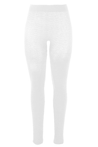 Sugar Lips Floral Texture Leggings - White