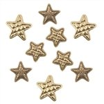 Buttons Galore Gold Stars Button (Gold Star Button)